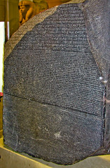 BJ906 Rosetta Stone (listentoreason) Tags: uk england london history archaeology museum canon europe unitedkingdom britain egypt favorites eu places britishmuseum europeanunion hieroglyphs hieroglyphics ancientegypt ancientworld greatbritian score35 ef28135mmf3556isusm
