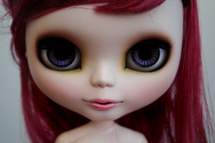 Tasha's Special Eyes for Mom (erregiro) Tags: nose eyes doll makeup lips carve moore blythe mm custom natasha tasha sbl asil eyechips erregiro oreder woodspriteblythe