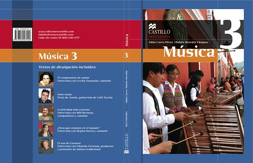 Portada de Música 3 de la editorial Macmillan de Rudy Girón