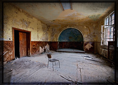 The Diner (Superlekker) Tags: berlin abandoned broken lamp hospital germany table deutschland personal theatre decay eerie surgery staff diningroom sanatorium derelict brandenburg operating krankenhaus dereliction trashed verlassen tbc speisesaal klinik tuberculosis topfloor militaryhospital chirurgie lungenheilanstalt beelitz sperrgebiet sowjetarmee lazarett landesversicherungsanstalt rawtherapee heilanstalt beelitzheilstatten sovietarmyhospital itsastrangeplace anjalieder copyrightanjalieder2008