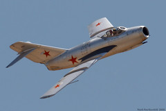 MiG 15 (mvonraesfeld) Tags: museum war fighter aviation air flight jet machine airshow mig chino mig15 fagot mikoyangurevich