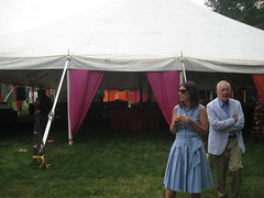 sam and laura wedding, tent people