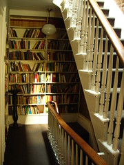 books on staircase (omoo) Tags: newyorkcity houses interiors rooms apartments westvillage books staircase antiques collectibles furnishings greenwichvillage residences nabokov