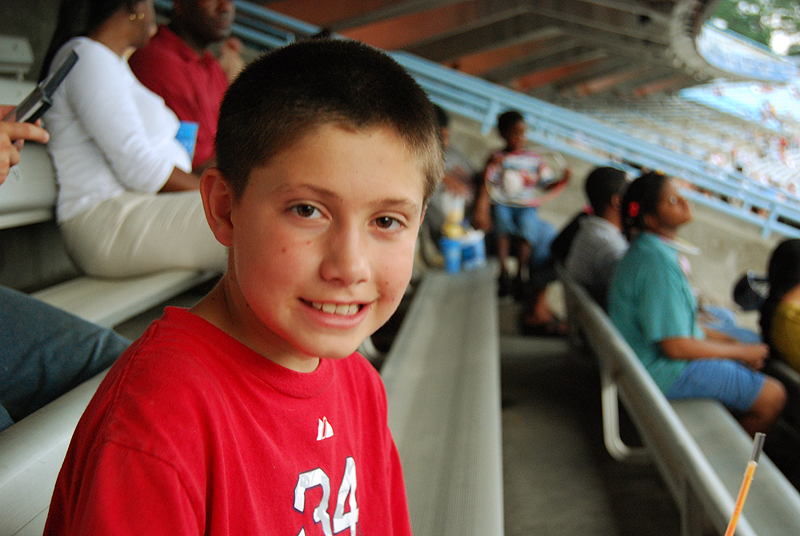 Peter at the Stadium