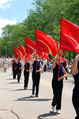 Glenview Fourth of July Parade: Red Flags