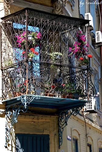 houses of Kiev - balconies