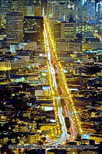 Market Street traffic in San Francisco