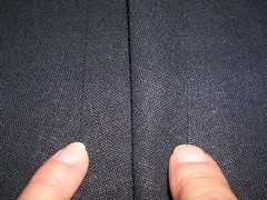 a clapped (clappered?) seam