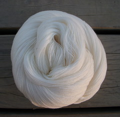 Lush Lace, Undyed-superfine merino wool, lace