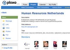 Groepen voor HR-professionals bij Plaxo