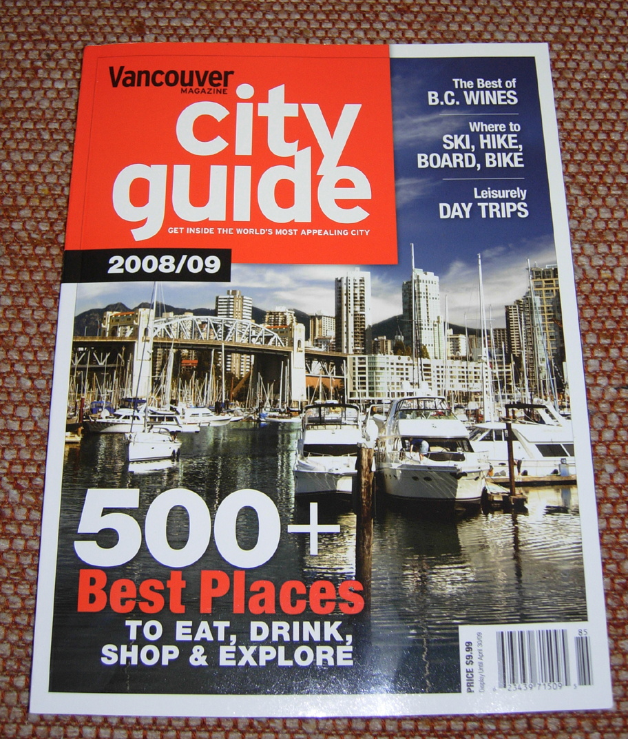 you see me in vancouver magazine s city guide 2008 09 rh seeseebe blogspot com jaipur city guide magazine taj city guide magazine
