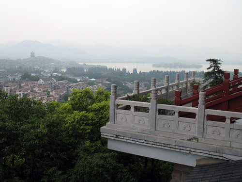 Hangzhou - the view from the top of Wushan