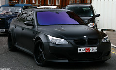 Lumma CLR 500 RS (maikeldenneijsel) Tags: auto england black cars love canon matt photography eos rebel photo driving colours britain united great uae clr kingdom automotive harrods abudhabi f bmw 28 manual 500 rs m5 av londen lumma 17mm xti 400d clr500rs