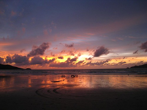 Sunset on Patong Beach