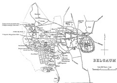 belgaum city map 1894