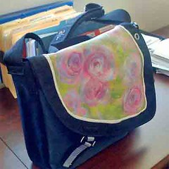 Customized Swag Bag (trumpetvine) Tags: bag diy paint fabric customized messenger swag tutorial personalized