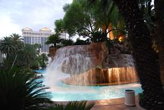 The Pool at the Mirage Hotel in Las Vegas (jimmerbond) Tags: las vegas nevada mirage pool waterfall caesars palace casino hotel