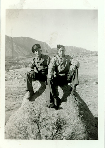 two service men on mountain