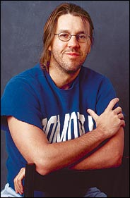 David Foster Wallace in Pomona College Shirt