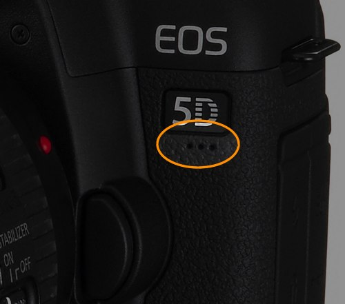 Recording microphone for movie recording on the Canon 5D Mark II