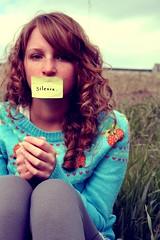 Social Phobia (morgan.laforge) Tags: sky girl field grass silence phobia socialphobia