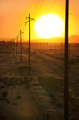 Desert Sunset (jssutt) Tags: sunset utah desert saltlakecity greatsaltlake western getty telephonepoles gettyimages oldwest desertsunset jssutt jeffsuttlemyre
