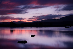 Loch Ba at Dawn (David Kendal) Tags: longexposure colour sunrise reflections landscape dawn scotland highlands still vibrant scottish peaceful tranquility calm loch dramaticsky canonef1740mmf4lusm 1740 fireinthesky daybreak gloaming rannochmoor gloam lochba a82 fpg leefilters