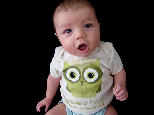 Petey + Inhabitots Owl Tee