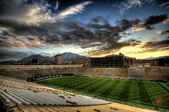 Sunset at Folsom (@!ex) Tags: college america landscape cu colorado pentax stadium folsom wideangle boulder handheld buffaloes sigma1020mm universityofcolorado k10d pentaxk10d alexbenison