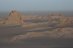 Kaluts at Sunrise, Dasht-e Lut Desert, Iran (Rowan Castle) Tags: landscape sand asia desert iran middleeast iranian 2008 img5764 dashtelut yardang yardangs