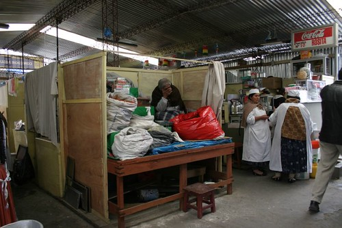 Market in La Paz...