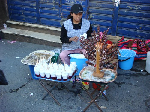 Street vendor, La Paz.