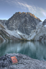 Reading by Colchuck Lake (Jeff Pang) Tags: lake hdr dragontail colchuck