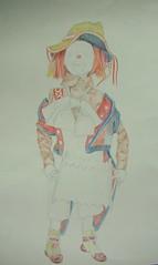 clown - work in progress (jennifer eeuwijk) Tags: pencil drawing clown tekening potlood eeuwijk