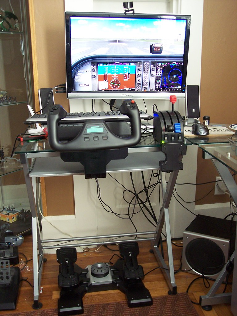 Boyfriend's flight sim setup