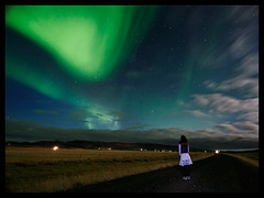 The Observer II (orvaratli) Tags: road travel blue moon green night landscape lights star iceland aurora moonlight northern auroraborealis borealis icelandic solarstorm magneticstorm top20aurora arcticphoto rvaratli orvaratli