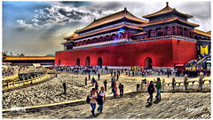 Forbidden City, the Palace Museum in Beijing() (14983-2) Tags: china city trip travel cloud museum architecture asia beijing palace forbidden  hdr