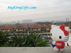 Hello Kitty's View of Neighbourhood at Holiday Inn Glenmarie Hotel, Malaysia