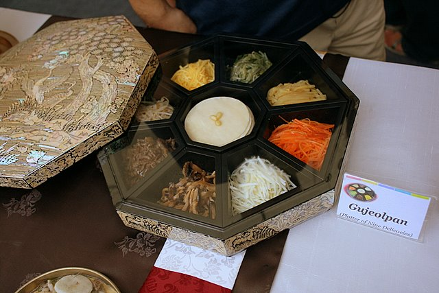 Gujeolpan - platter of nine delicacies