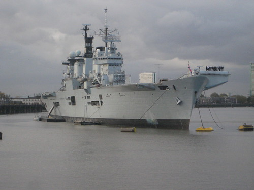 HMS Illustrious at Greenwich