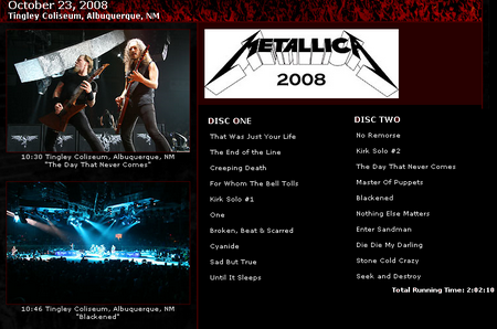 Metallica - Load And Roll Live (disc 2)