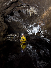 Formations in Main Stream Passage (footleg) Tags: uk stream yorkshire pot cave caving straws stalactites formations cccp notts tonycook streamway nottsii cavechat 2notts