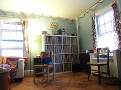 living room 5. records. (stephiblu) Tags: november autumn party guests fun nj montclair 2008 autumnball autumnball2008 tichenortichenors