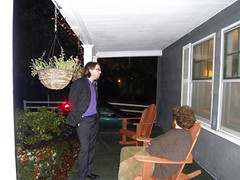 anthony + james on the porch. (stephiblu) Tags: november autumn party guests fun nj montclair 2008 autumnball autumnball2008 tichenortichenors
