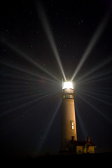 (maxxsmart) Tags: california light lighthouse canon stars 50mm14 hollywood 5d pigeonpoint highiso fresnellens sanmateocounty