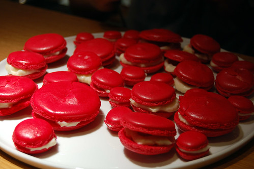 Raspberry and Rose Macarons