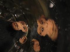 monkey (Maʝicdölphin) Tags: macro water glass canon toy monkey powershot refletion a590