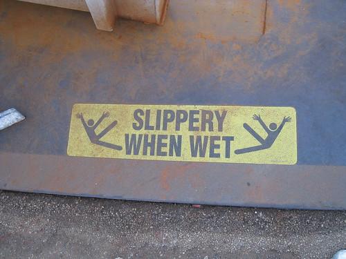 Hyde St. Pier Warning Sign - Jazz Hands...Kick!