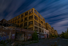 Packard Motors (Noel Kerns) Tags: plant abandoned night michigan detroit motors packard