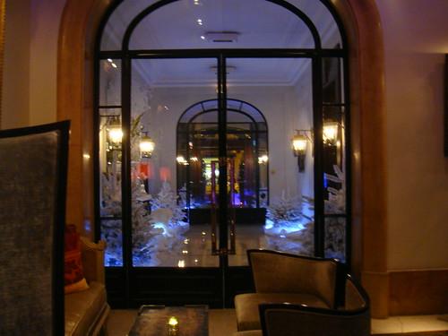 Entrada del hotel vista desde Le Grand Salon